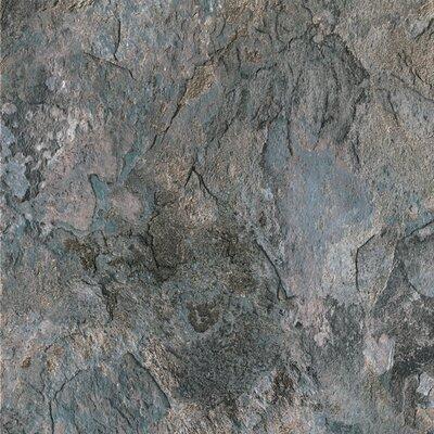 """Congoleum DuraCeramic Sierra Slate 15.63"""" x 15.63"""" Vinyl Tile in Blue Slate"""