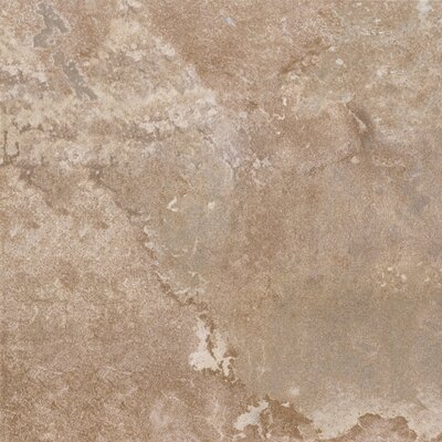 "Congoleum DuraCeramic  Rustic Stone 15.63"" x 15.63"" Vinyl Tile in Light Beige"