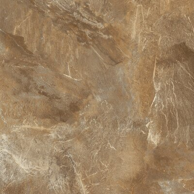 "Congoleum DuraCeramic Village Slate 15.63"" x 15.63"" Vinyl Tile in Tiger Eye"