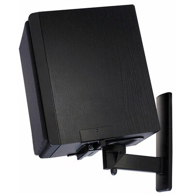 Pinpoint Mounts Side Clamping Bookshelf Speaker Wall Mount Pair in Black