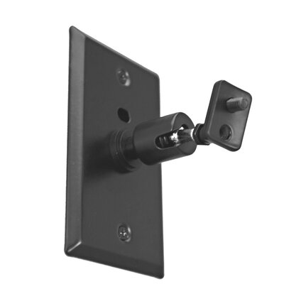 Pinpoint Mounts Universal Speaker Wall/Ceiling Mount with Electrical Box Installation Adapter Plate in Black