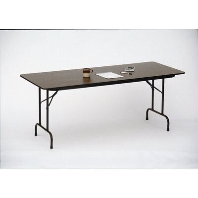 Correll, Inc. Melamine Top Folding Table in Walnut Finish
