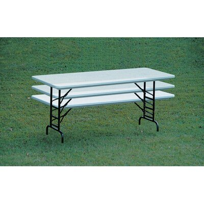 Correll, Inc. Plastic Folding Table with Adjustable Legs