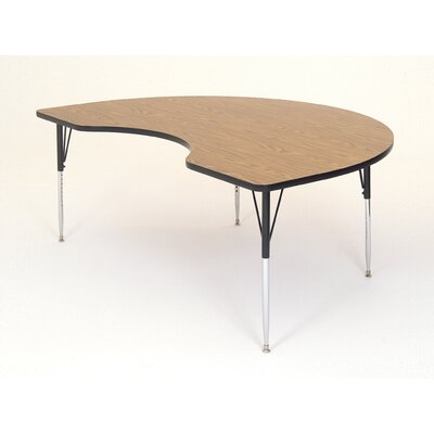 Correll, Inc. Kidney Shaped Activity Table with Standard Legs
