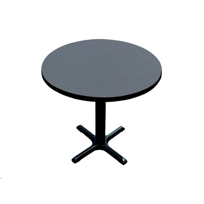 "Correll, Inc. 29"" High Round Bar and Café Table with X Base and Column"