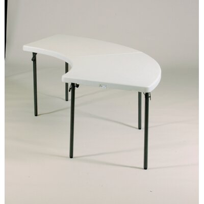 "Correll, Inc. 96"" W x 30"" D Serpentine Folding Table"