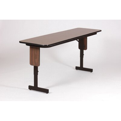 "Correll, Inc. 72"" W x 18"" D Panel Leg Folding Seminar Table with Adjustable Leg"