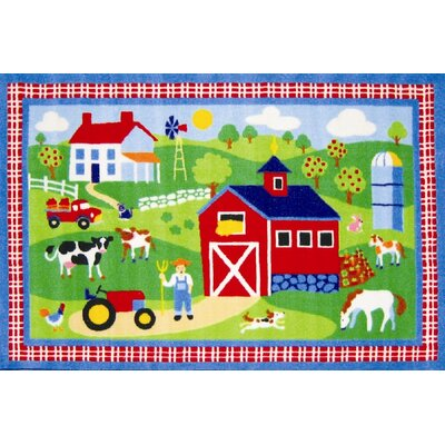 Fun Rugs Olive Kids Country Farm Kids Rug