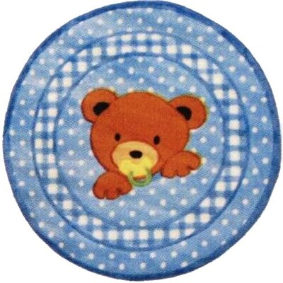 Fun Rugs Supreme Teddy Center Blue Bear Kids Rug
