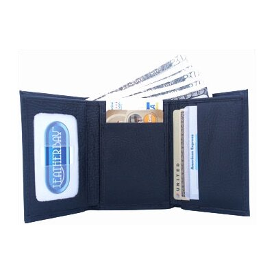 Leatherbay Tri Fold Genuine Leather Wallet