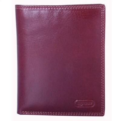 Double Fold with Detachable ID Window in English Brown