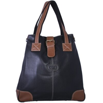 Milan Laptop Compatible Flap Leather Tote Bag