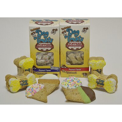 "Foppers ""We all Howl for Ice Cream"" 170 Piece Dog Treat Gift Set"