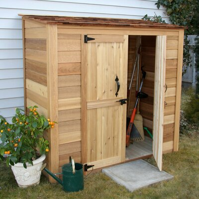 Outdoor Living Today Garden Chalet Wood Lean-To Shed