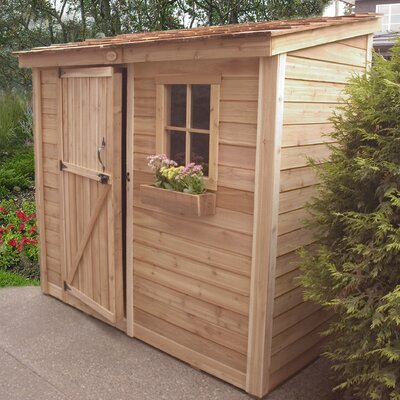 "Outdoor Living Today SpaceSaver 8'7"" W x 4'7"" D Wood Lean-To Shed"