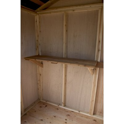 Outdoor Living Today Gardener's 8' W x 8' D Wood Garden Shed