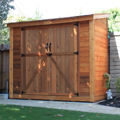 Outdoor living today spacesaver 8 5 ft w x 4 5 ft d wood lean to shed reviews wayfair - Garden sheds with lean to ...