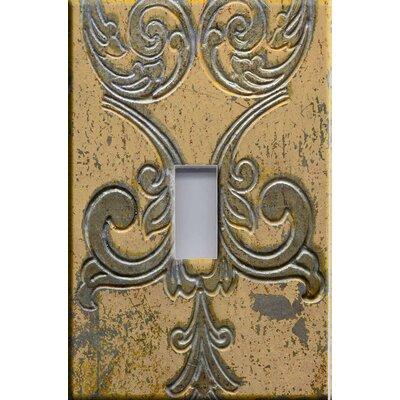 HomePlates Worldwide Beige Metal on Stone Decorative Light Switchplate Cover - Single Toggle Switch