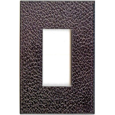 HomePlates Worldwide Artitude Black Leather Decorative Light Switch Cover - Single Rocker Switch