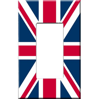 HomePlates Worldwide Artitude Union Jack Decorative Light Switch Cover - Single Rocker Switch