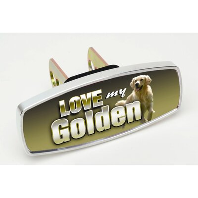 Heininger Holdings LLC HitchMate Love My Golden Premier Series Hitch Cap