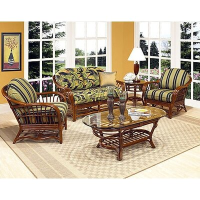 Boca Rattan Amarillo Deep Seating Group with Cushions