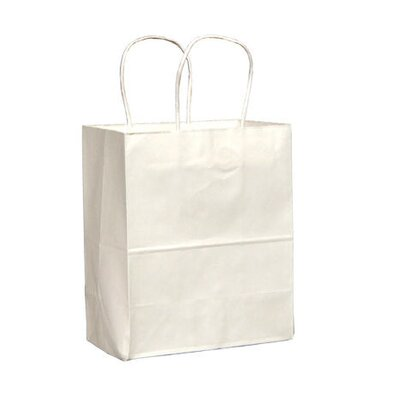 "BAGCO™ 10.25"" x 8"" x 4.5"" Handled Shopping Bags in White"