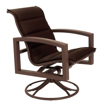 Lakeside Padded Sling Swivel Rocking Chair