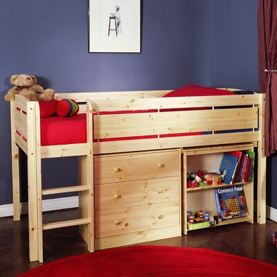 Canwood Furniture Whistler Junior Twin Low Loft Bed with Built-In Ladder