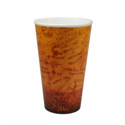 DART® 20 Oz Foam Hot / Cold Cups in Brown / Black