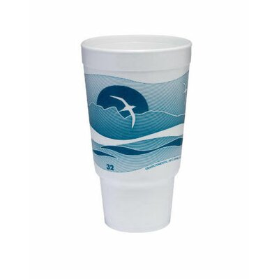 Dart Container Corp. 32 Oz Printed Horizon Foam Hot / Cold Cup