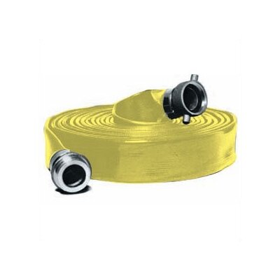 Abbott Rubber Company Extra Heavy Duty PVC Water Discharge Hose in Yellow