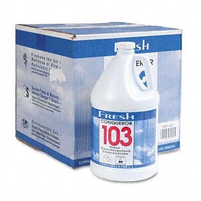 FRESH PRODUCTS Conqueror 103 Odor Counteractant Concentrate, 1 Gal Bottle, 4/Carton