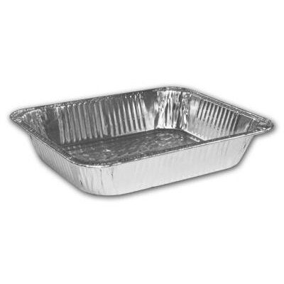 "HANDI-FOIL® 2.6"" Deep Half-Size Steam Table Aluminum Pan"
