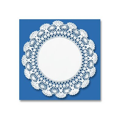 "HOFFMASTER® 12"" Round Cambridge Lace Doilies in White"