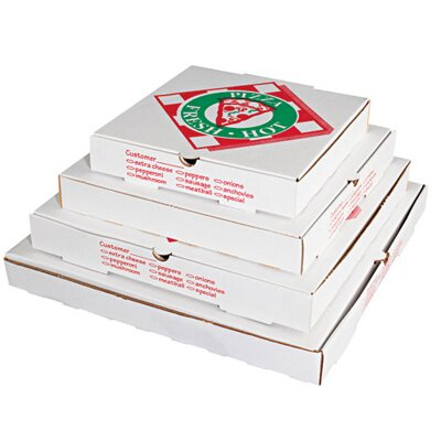 "PIZZA BOX 14"" Takeout Pizza Container in White"