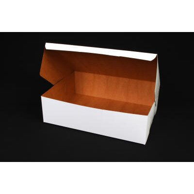 "SCT® 4"" x 10"" Tuck-Top Bakery Boxes in White"
