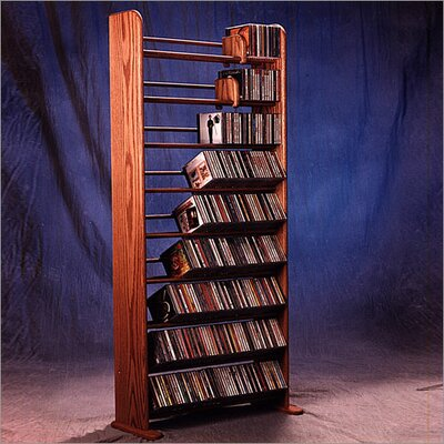 Wood Shed Deluxe 504 CD Multimedia Storage Rack