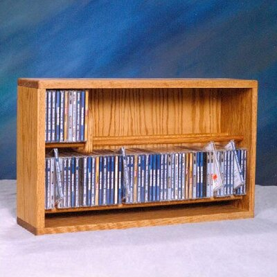Wood Shed 200 Series 110 CD Multimedia Tabletop Storage Rack