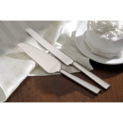 Bridal Flatware Aero Cake Knife and Server Set