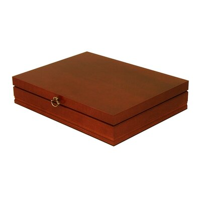 Oneida Rebecca Flatware Storage Chest in Deep Mahogany | Wayfair
