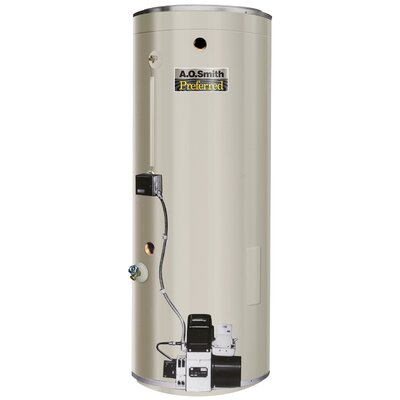 COF-315S Commercial Tank Type Water Heater Oil Fired 84 Gal Lime Tamer ...