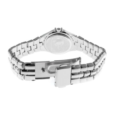 Peugeot Women's Round Swarovski Watch with Crystal Bracelet in Silver Tone