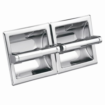 Creative Specialties by Moen Commercial Hotel / Motel Double Recessed Toilet Toilet Toilet Paper Holder in Polished Chrome