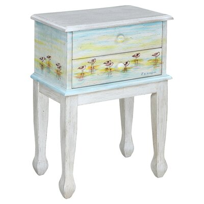 <strong>Gail's Accents</strong> Shoreline Betsy's Sandpipers End Table
