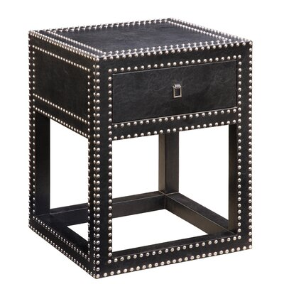 Gail's Accents Modern Nailhead End Table