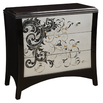 Modern Graphics 3 Drawer Chest