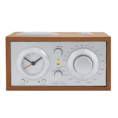 Model Three Clock Radio in Cherry / Silver