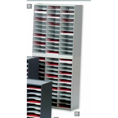 Paperflow Master literature Organizers with 36 Compartments in Grey