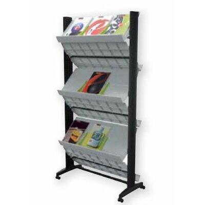 Paperflow X-Large Double Sided Literature Display in Grey